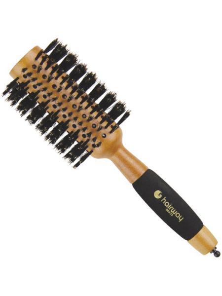 Dřevěný kartáč s kančími štětinami Hairway - 38 mm (06333) + DÁREK ZDARMA