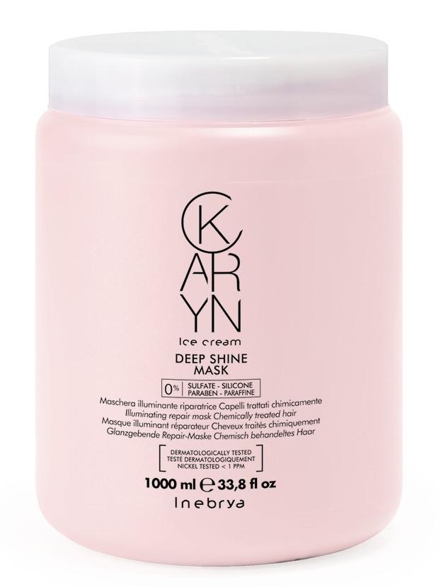 Regenerační maska pro vlasy bez lesku Inebrya Karyn Deep Shine - 1000 ml (7721188) + DÁREK ZDARMA