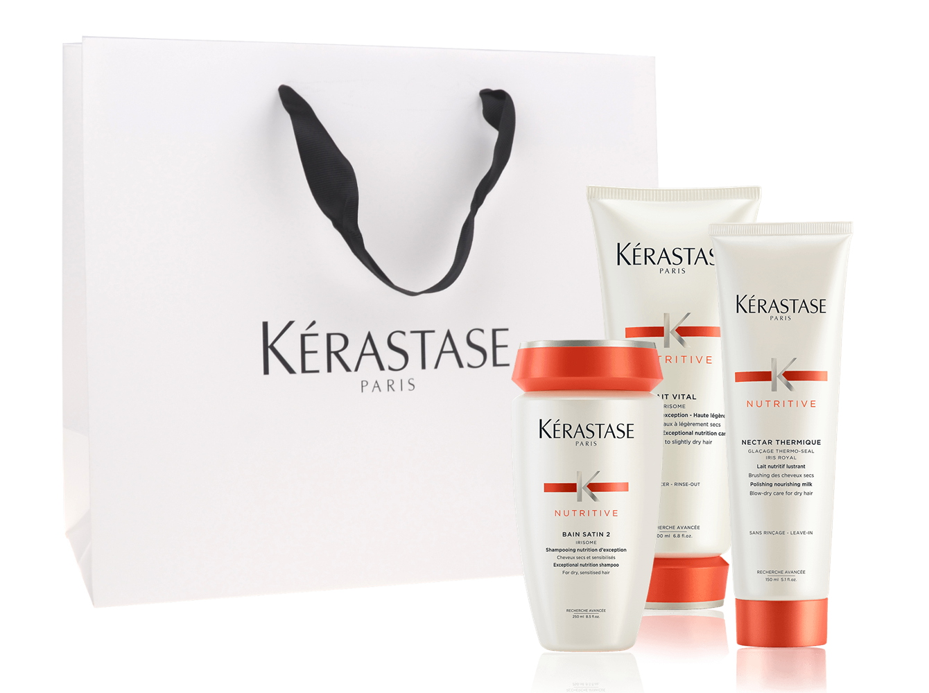 Sada pro normální a suché vlasy v dárkové taštičce Kérastase Nutritive + DÁREK ZDARMA