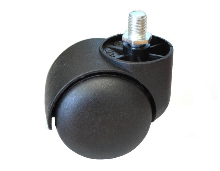 Detail náhradní kolečko k taburetům - černé (B-20š)