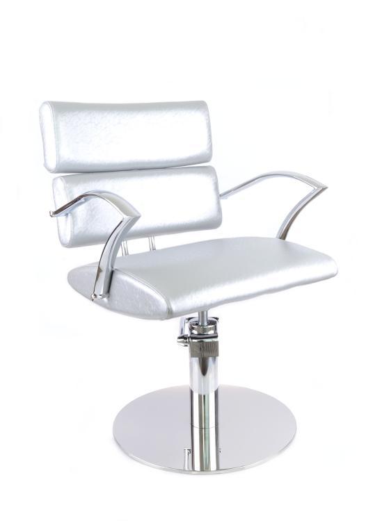 Kadeřnické křeslo SilverFox 51000, stříbrno-šedé + DÁREK ZDARMA