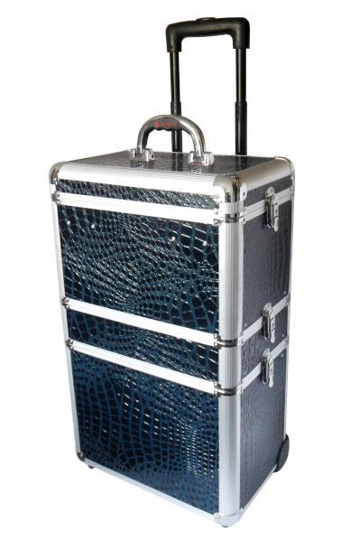 Sekční kufr na kolečkách Hairway - 4-dílný, tmavě modrý (28589) + DÁREK ZDARMA