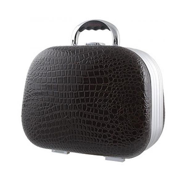 Dámský kosmetický kufřík Hairway krokodýlí kůže - černý (28553-02) + DÁREK ZDARMA