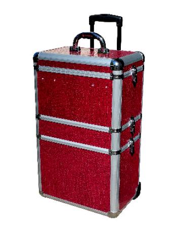 Sekční kufr na kolečkách Hairway - vínový, II. jakost - promáčklá konstrukce (28592) + DÁREK ZDARMA