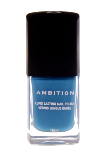 Dlouhotrvající lak na nehty Ambition Cosmo Blue, modrá - 10 ml (0023047)