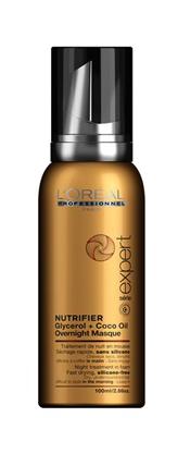 Pěnová noční maska pro suché vlasy Loréal Nutrifier - 100 ml
