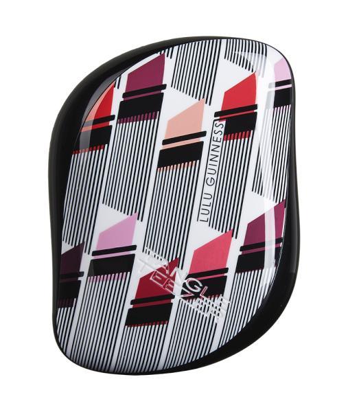 Kartáč na vlasy Tangle Teezer Compact - Lulu Guinness, černý (CS-LG-010616) + DÁREK ZDARMA