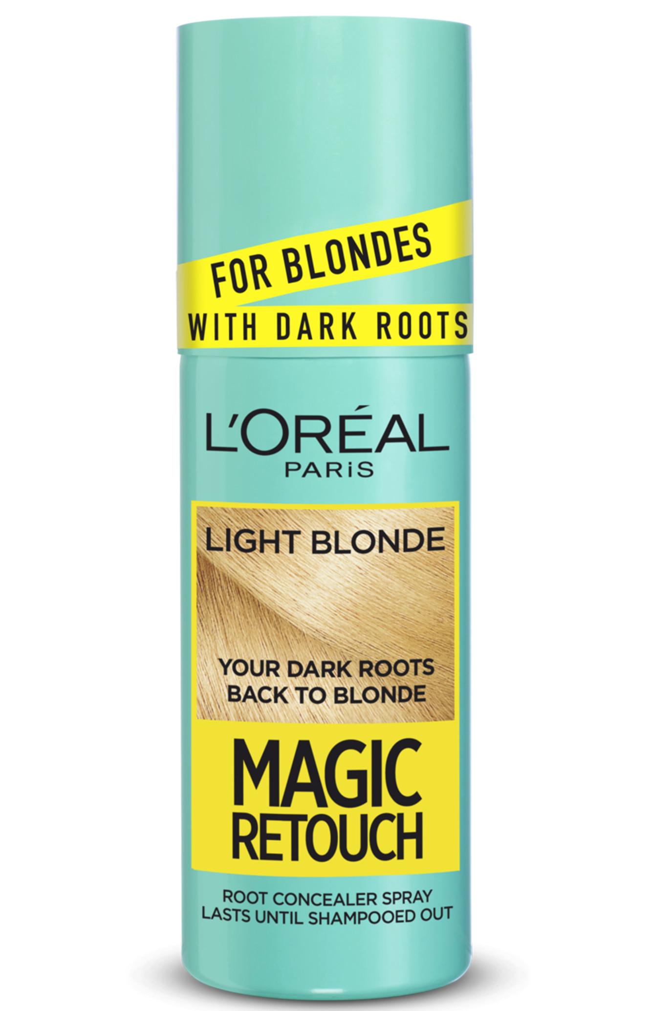 Sprej pro zakrytí tmavých odrostů Loréal Paris Magic Retouch - 75 ml, světlá blond