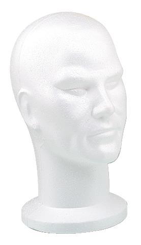 Manekýna pro paruky - muž, bílá hlava (4490300) - Sibel + DÁREK ZDARMA