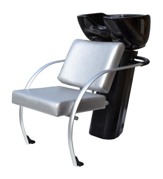 Kadeřnický mycí box Hairway Jazz - stříbrný(YD22)/černá mísa (57003-YD22) + DÁREK ZDARMA