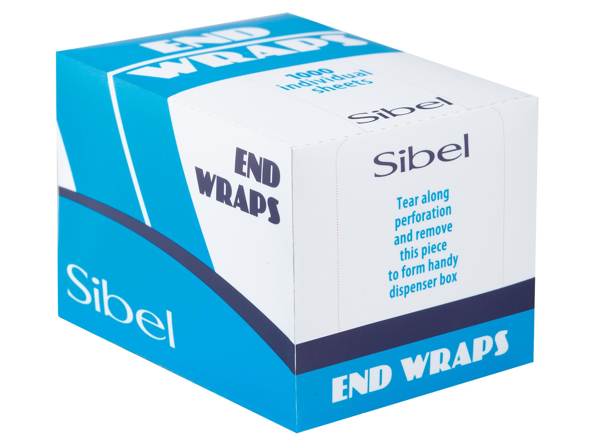 Papírky na trvalou ondulaci Sibel End Wraps, 80 x 55 mm - 1000 ks (4330331)