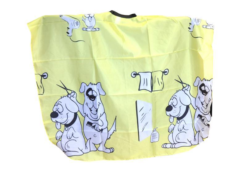 Dětská kadeřnická pláštěnka Fox Collection Basic - žlutá (1509401, 7512000) + DÁREK ZDARMA
