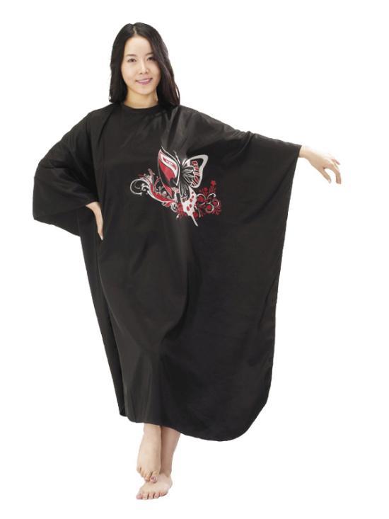Kadeřnická pláštěnka Mila Butterfly - černá (0068341) + DÁREK ZDARMA