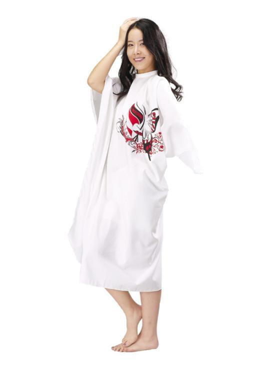 Kadeřnická pláštěnka Mila Butterfly - bílá (0068339) + DÁREK ZDARMA