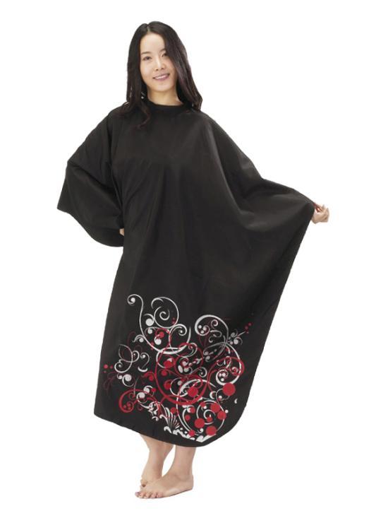 Kadeřnická pláštěnka Mila Fantasy - černá (0068345) + DÁREK ZDARMA