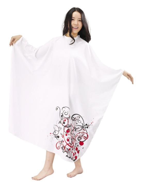 Kadeřnická pláštěnka Mila Fantasy - bílá (0068343) + DÁREK ZDARMA