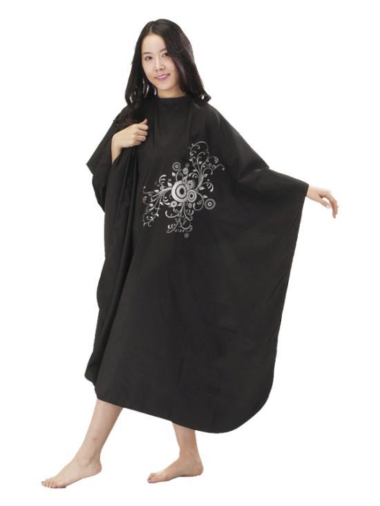 Kadeřnická pláštěnka Mila PEACOCK černá (0068333) + DÁREK ZDARMA