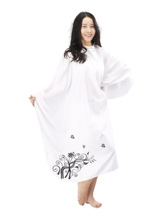 Kadeřnická pláštěnka Mila TREE bílá (0068335) + DÁREK ZDARMA