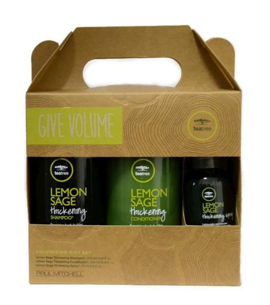 Dárková sada pro objem vlasů Paul Mitchell Lemon Sage - Give Volume + DÁREK ZDARMA