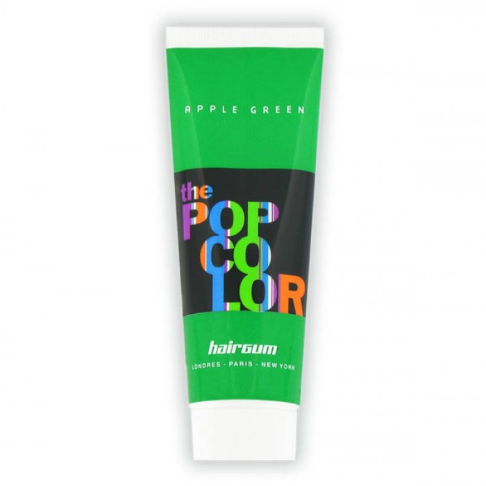 Semipermanentní barva na vlasy Hairgum, Pop color - jablkově zelená (022060119) + DÁREK ZDARMA