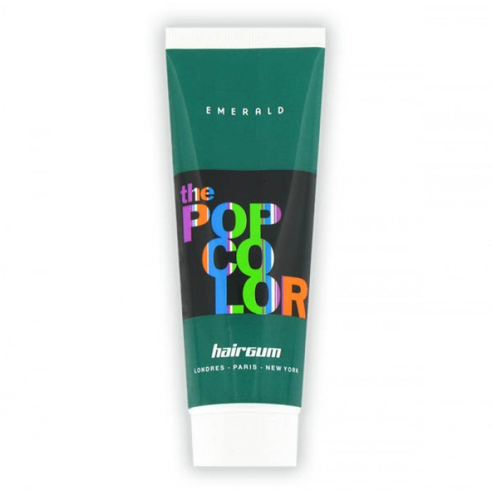 Semipermanentní barva na vlasy Hairgum, Pop color - smaragdová (022060118) + DÁREK ZDARMA