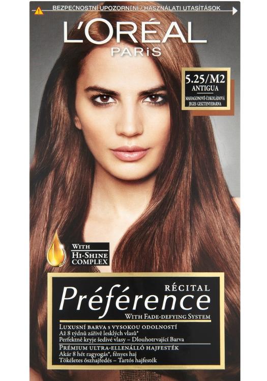 Permanentní barva Loréal Préférence 5.25/M2 mahagonově-čokoládová