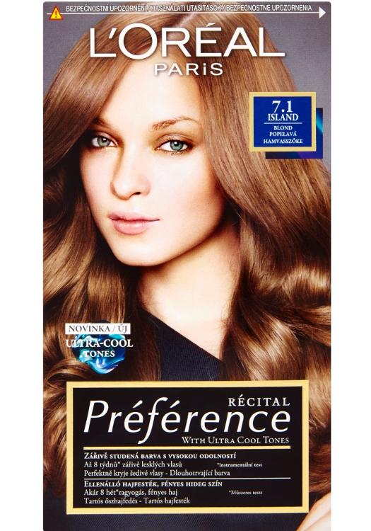 Permanentní barva Loréal Préférence 7.1 blond popelavá