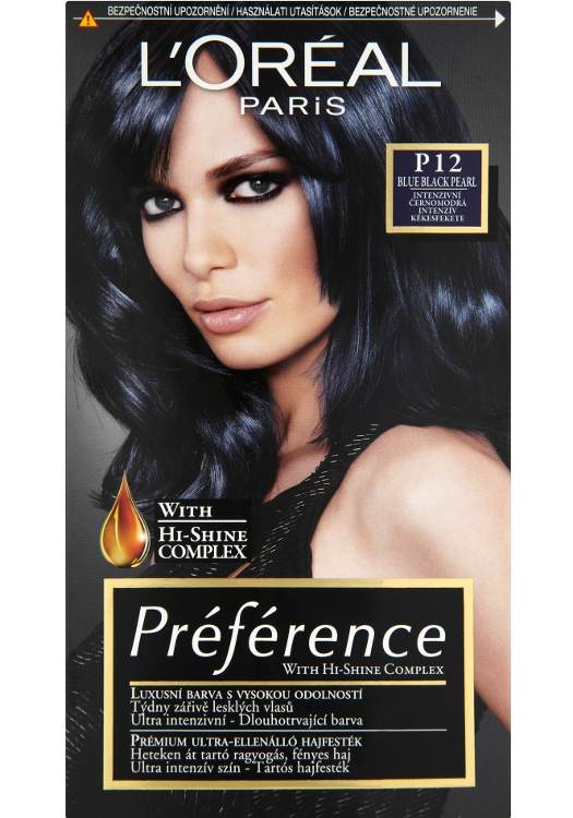 Permanentní barva Loréal Préférence P12 intenzivní černomodrá