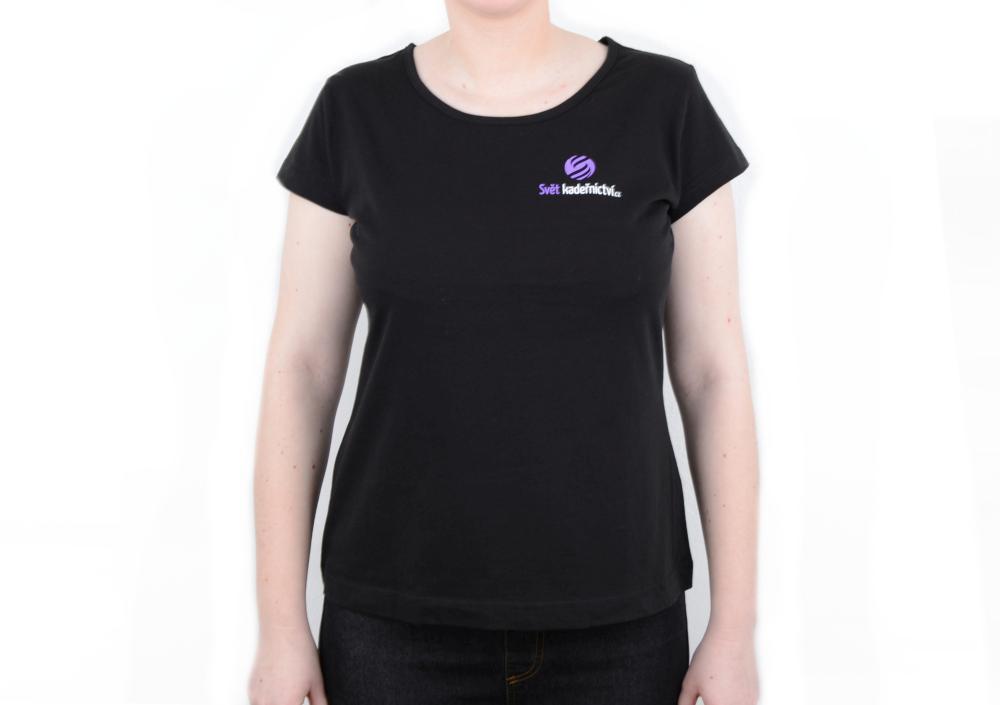 Tričko s krátkým rukávem, kulatý výstřih - dámské, černé XL (svk122čXL)