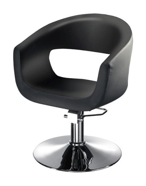 Kadeřnické designové křeslo Hairway RETRO - černé (56083-YD29) + DÁREK ZDARMA