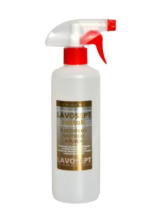 Dezinfekce nástrojů a ploch ve spreji Amoené Lavosept - citron - 500 ml (0132C2M500)