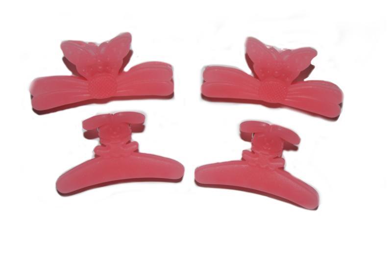 Plastový skřipec do vlasů Duko 1283 střední - růžový (1283 - pink)