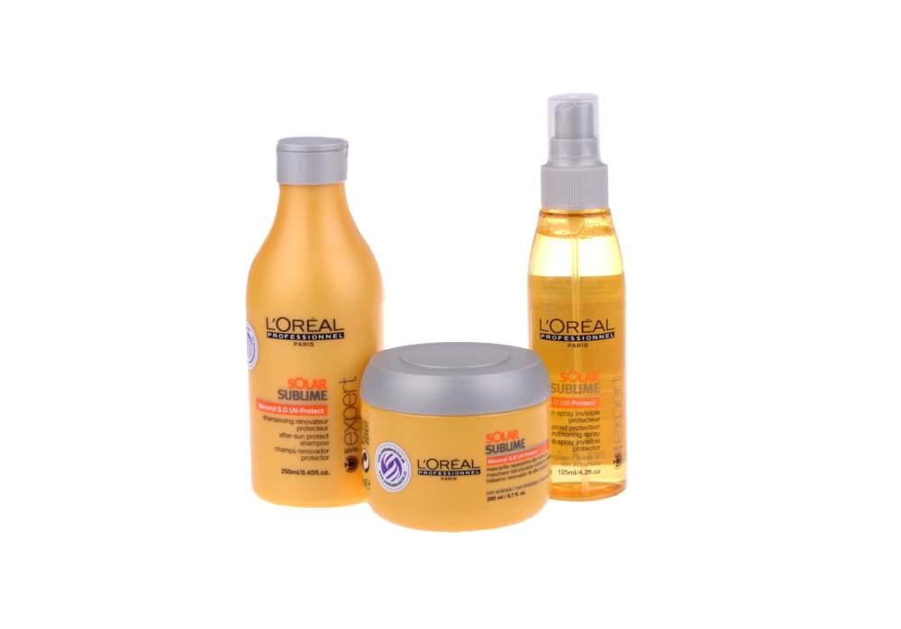 Sada proti slunci Solar Sublime - šampon, maska + sprej ZDARMA - Loréal Professionnel + DÁREK ZDARMA