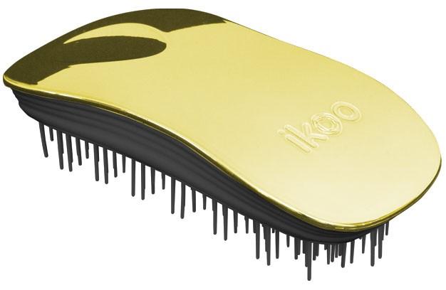 Kartáč na vlasy Ikoo Home Metallic Soleil - černo-zlatý + DÁREK ZDARMA