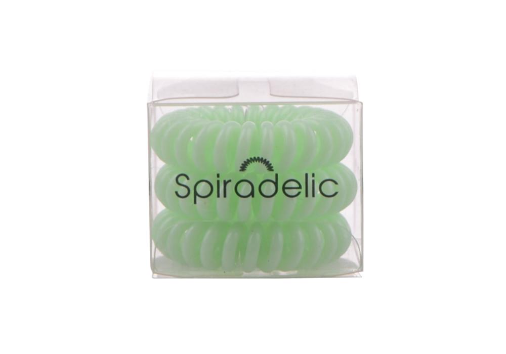 Spirálová gumička do vlasů Spiradelic - světle zelená 3 ks, Sibel (6600544 green)