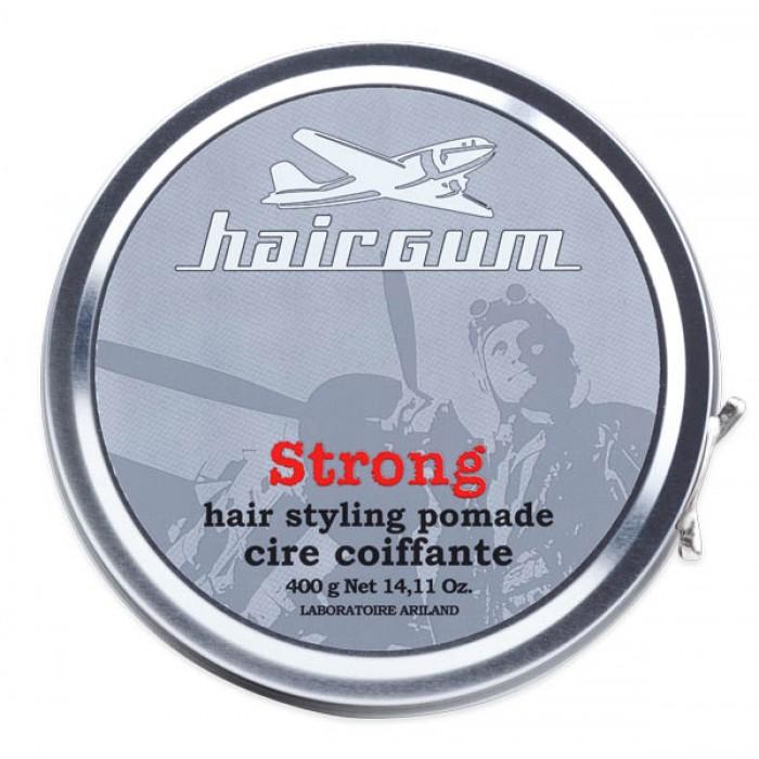 Pomáda na vlasy Hairgum, Strong 400 g - silná fixace (0220022) + DÁREK ZDARMA