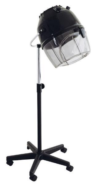 Sušící helma Hairway na stojanu - černá (49013) + DÁREK ZDARMA