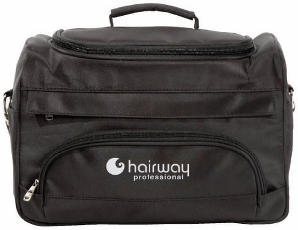 Hairway Kadeřnická brašna na nářadí - textilní černá (28516) + DÁREK ZDARMA