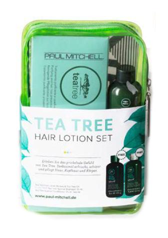 Sada pro osvěžení a hydrataci vlasů Paul Mitchell Tea Tree + taštička (702710) + DÁREK ZDARMA