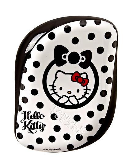 Kartáč na vlasy Tangle Teezer Compact - Hello Kitty, černý (CS-HK-010916) + DÁREK ZDARMA