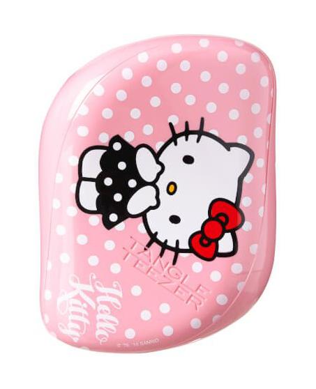 Kartáč na vlasy Tangle Teezer Compact - Hello Kitty, růžový (CS-HKPINK-010916) + DÁREK ZDARMA