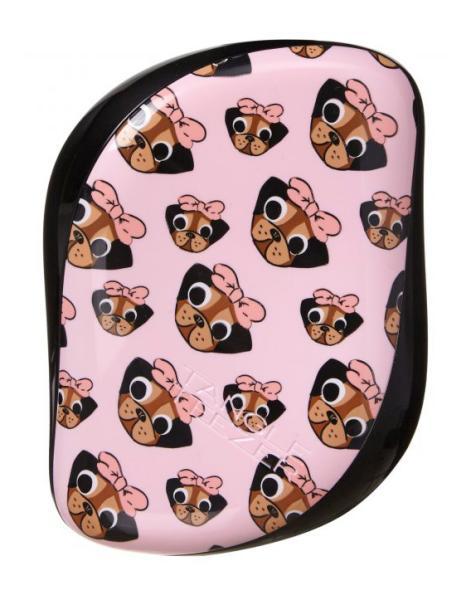 Kartáč na vlasy Tangle Teezer Compact - Pug love, černý + DÁREK ZDARMA