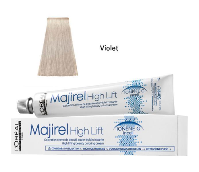 Majirel High Lift zesvětlující barva na vlasy 50 ml - Violet - Loréal Professionnel + DÁREK ZDARMA