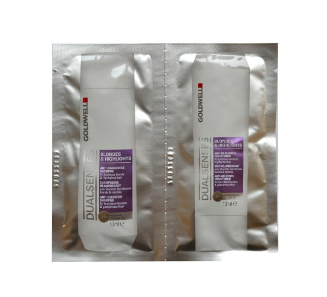 Goldwell Blondes a Highlights šampon, kondicionér - 2x10 ml (205535, 206179)