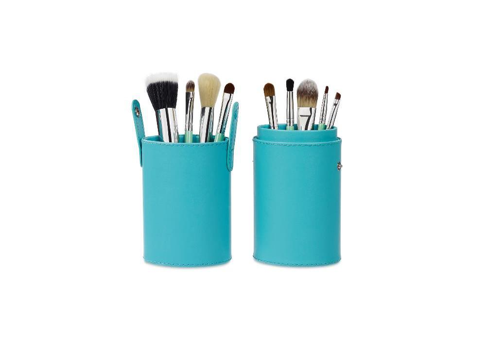 Oválné zelené pouzdro s 9 štětci na make-up, Sibel (0011800) + DÁREK ZDARMA