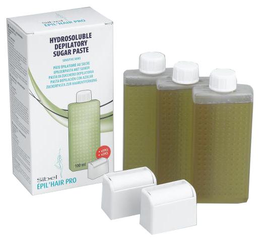 Depilační cukrová pasta s roll-on hlavicí Sibel pro citlivou pokožku s výtažkami z oliv (7430005)