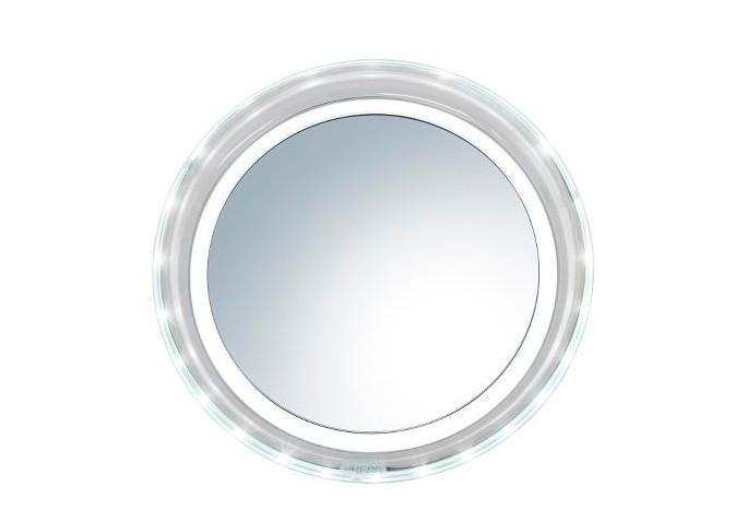 Kosmetické zrcátko s osvětlením Sibel Helsinki - 5x zvětšení (4430407) + DÁREK ZDARMA