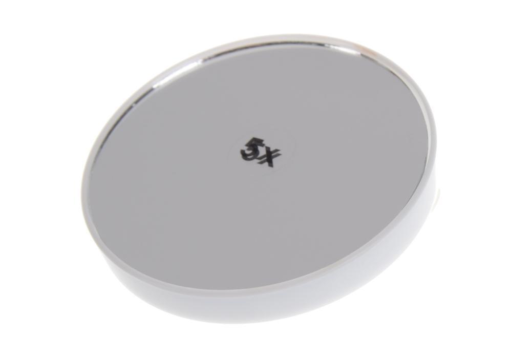 Kosmetické zvětšovací zrcátko s přísavkami Sibel - 7,5 cm, bílé (0145093 - white)