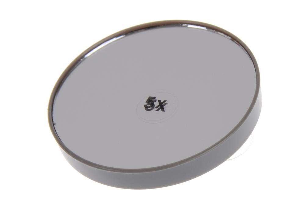 Kosmetické zvětšovací zrcátko s přísavkami Sibel - 7,5 cm, šedé (0145093 - grey)